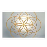 Seed of Life Gold Postcards (Package of 8)