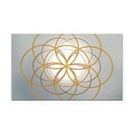 Seed of Life Gold Rectangle Car Magnet