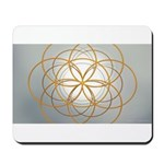 Seed of Life Gold Mousepad