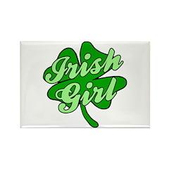 IRISH GIRL with SHAMROCK Rectangle Magnet (10 pack