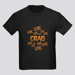 Love Love Crab Kids Dark T-Shirt