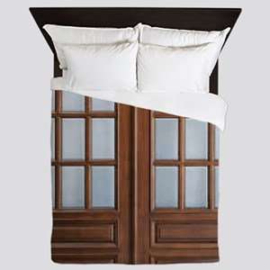 Wood Door Queen Duvet