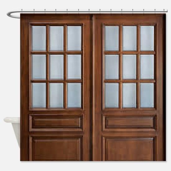 Wood Door Shower Curtain
