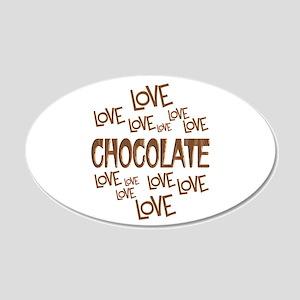 Love Love Chocolate 20x12 Oval Wall Decal