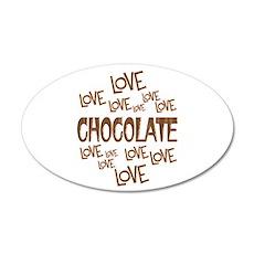 Love Love Chocolate Wall Decal