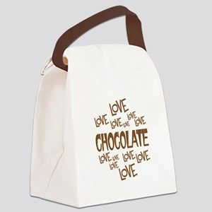 Love Love Chocolate Canvas Lunch Bag
