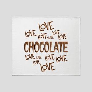Love Love Chocolate Throw Blanket