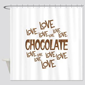 Love Chocolate Shower Curtain