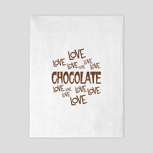 Love Love Chocolate Twin Duvet