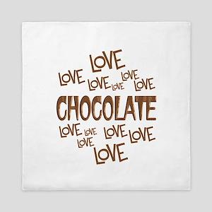 Love Love Chocolate Queen Duvet