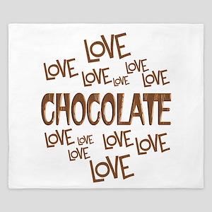 Love Love Chocolate King Duvet