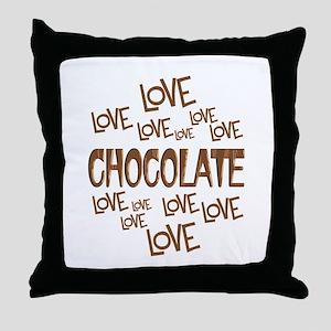 Love Love Chocolate Throw Pillow