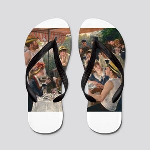 Luncheon of the Boating Party - Renoir Flip Flops