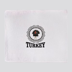 Turkey label fun Throw Blanket