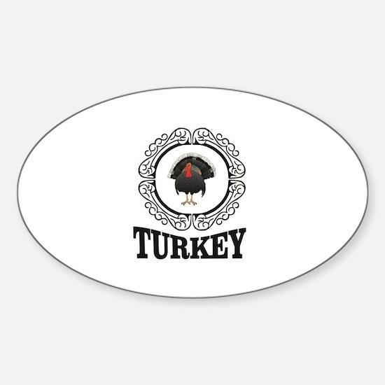 Turkey label fun Decal