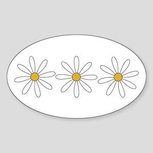 Daisies Oval Sticker
