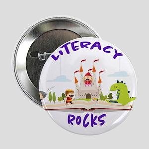 """Literacy Rocks 2.25"""" Button"""