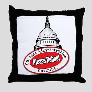 Reboot Washington... Throw Pillow