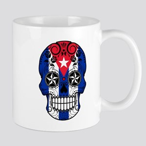 Cuban Sugar Skull with Roses Mugs