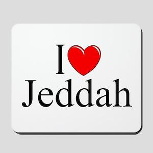 """I Love Jeddah"" Mousepad"