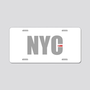 My NYC Aluminum License Plate