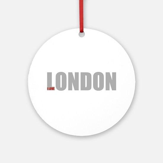 My London Round Ornament