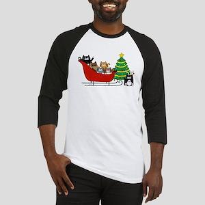 6 Kitty Cat, Sleigh Christmas Tree -  Baseball