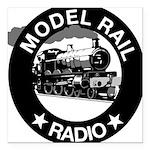 "modelrailradio_logo Square Car Magnet 3"" x 3"""