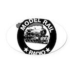 modelrailradio_logo Oval Car Magnet