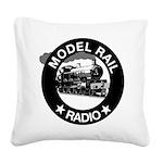 modelrailradio_logo Square Canvas Pillow