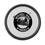 modelrailradio_logo Large Wall Clock