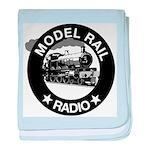 modelrailradio_logo baby blanket