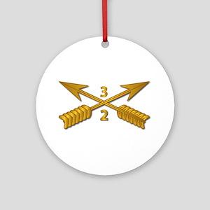 2nd Bn 3rd SFG Branch wo Txt Round Ornament