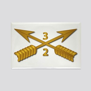 2nd Bn 3rd SFG Branch wo Txt Rectangle Magnet