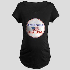 Anti Trump, Pro USA Maternity T-Shirt