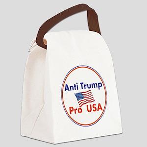 Anti Trump, Pro USA Canvas Lunch Bag