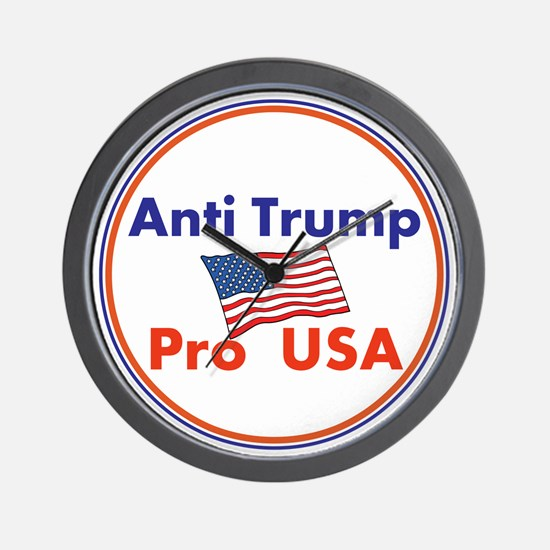 Anti Trump, Pro USA Wall Clock
