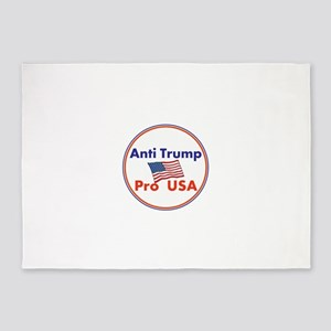 Anti Trump, Pro USA 5'x7'Area Rug