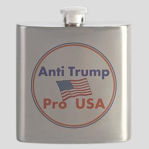 Anti Trump, Pro USA Flask