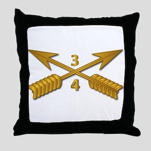 4th Bn 3rd SFG Branch wo Txt Throw Pillow