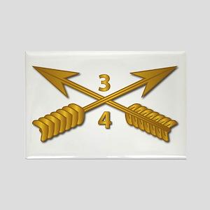 4th Bn 3rd SFG Branch wo Txt Rectangle Magnet