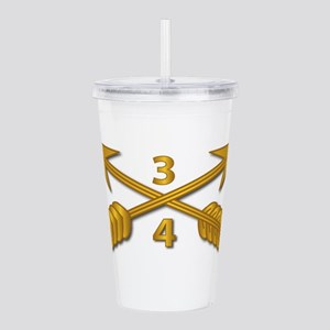 4th Bn 3rd SFG Branch Acrylic Double-wall Tumbler