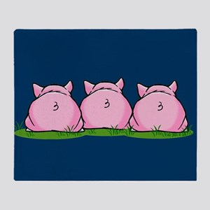 Three Pigs Throw Blanket
