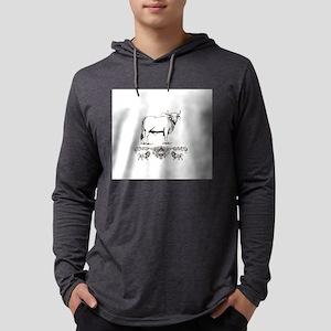 white Brahma bull art Long Sleeve T-Shirt