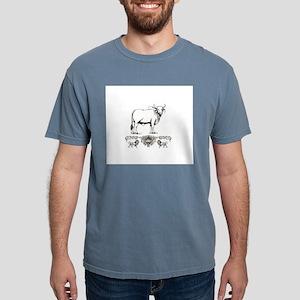 white Brahma bull art T-Shirt