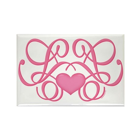 Decorative Heart Rectangle Magnet