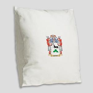 Groot Coat of Arms - Family Cr Burlap Throw Pillow