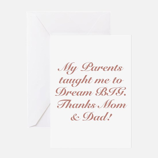 Thanks Mom & Dad! Greeting Cards