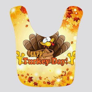 Happy Turkey Day Polyester Baby Bib