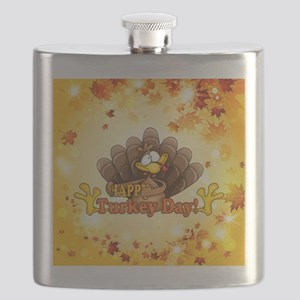 Happy Turkey Day Flask